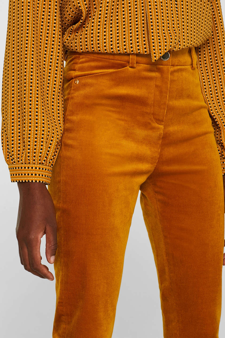 Pants woven, AMBER YELLOW, detail image number 2