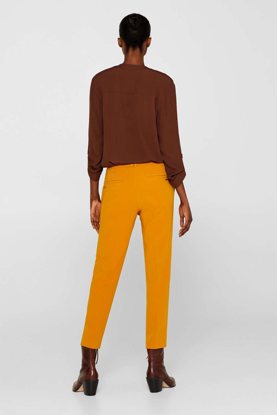 TAILORING Mix + Match stretch trousers, AMBER YELLOW, detail image number 3