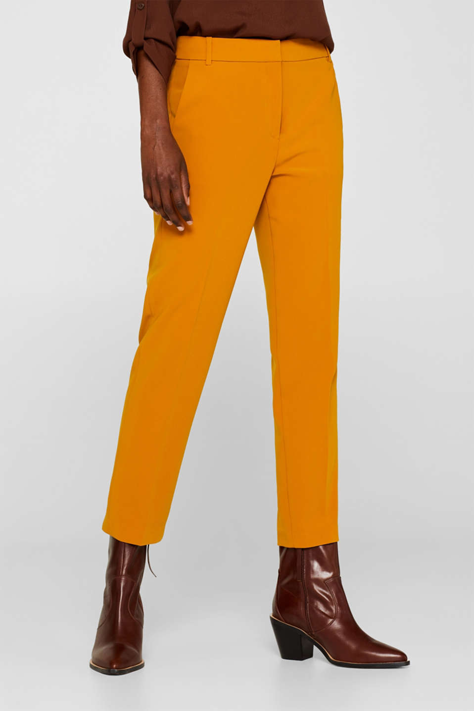 TAILORING Mix + Match stretch trousers, AMBER YELLOW, detail image number 6