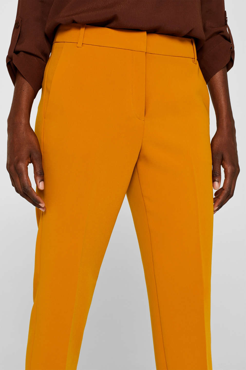 TAILORING Mix + Match stretch trousers, AMBER YELLOW, detail image number 2