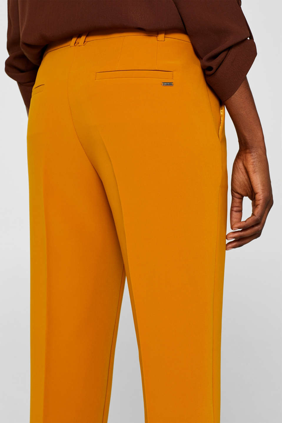 TAILORING Mix + Match stretch trousers, AMBER YELLOW, detail image number 5