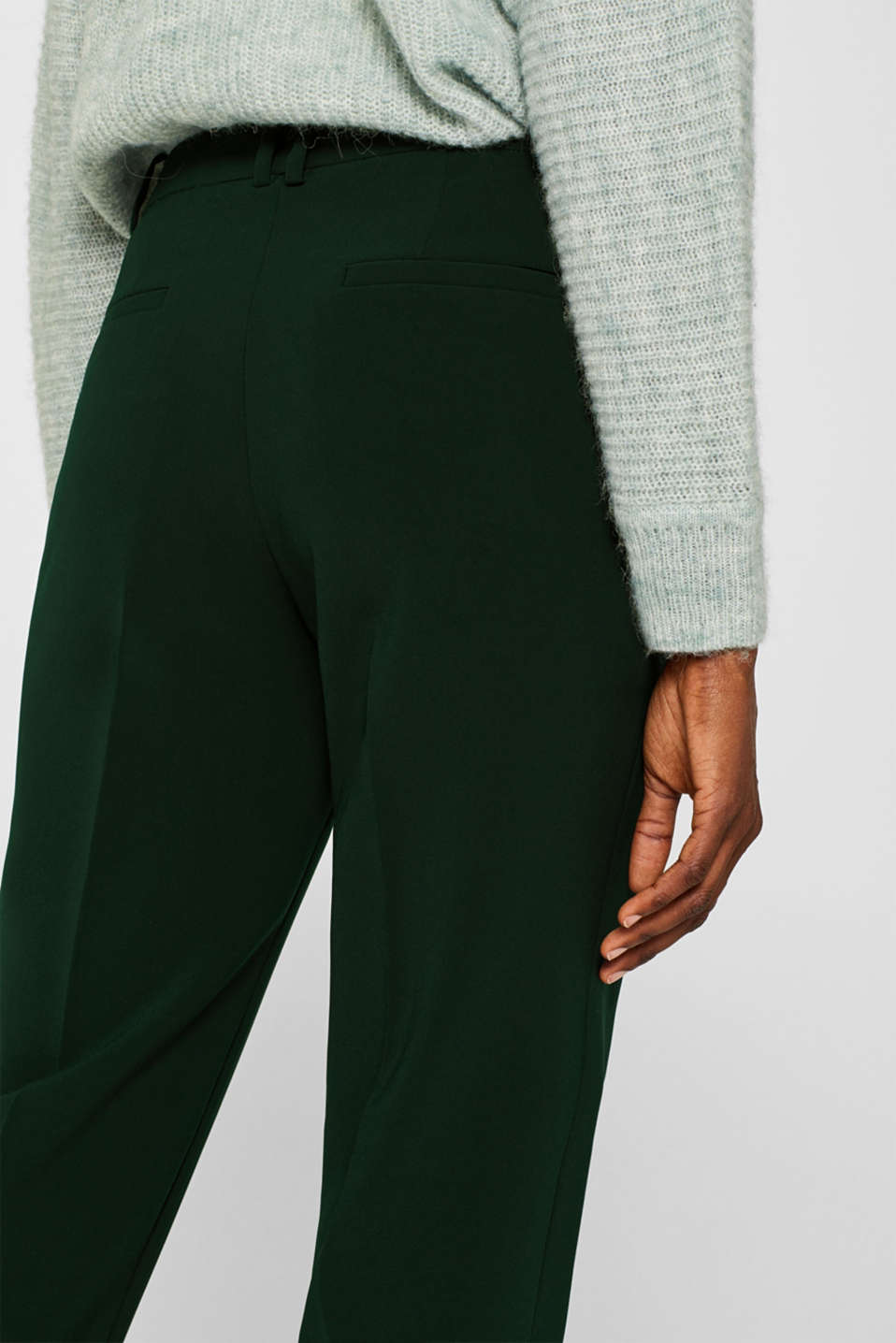 STITCHING mix + match stretch trousers with decorative stitching, DARK TEAL GREEN 2, detail image number 5