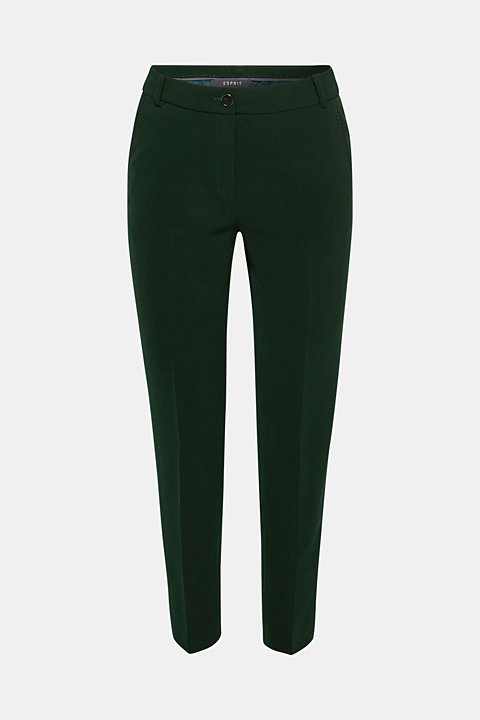 STITCHING mix + match stretch trousers with decorative stitching