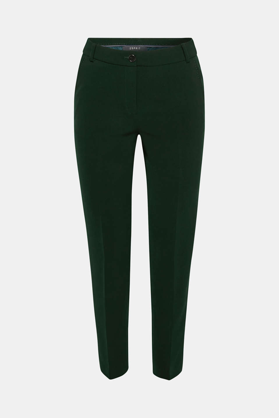 STITCHING mix + match stretch trousers with decorative stitching, DARK TEAL GREEN 2, detail image number 8