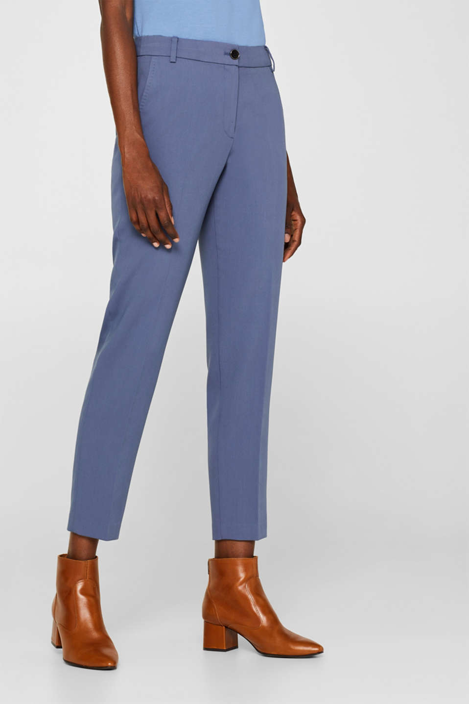 STITCHING mix + match stretch trousers with decorative stitching, GREY BLUE 2, detail image number 5