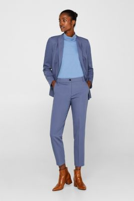 STITCHING mix + match stretch trousers with decorative stitching, GREY BLUE 2, detail
