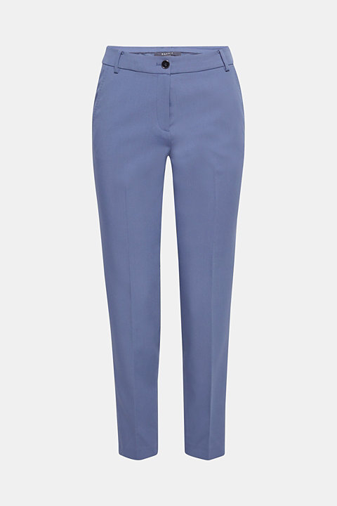 STITCHING mix + match stretch trousers with decorative stitching