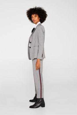 TAPE Mix + Match stretch trousers, MEDIUM GREY, detail