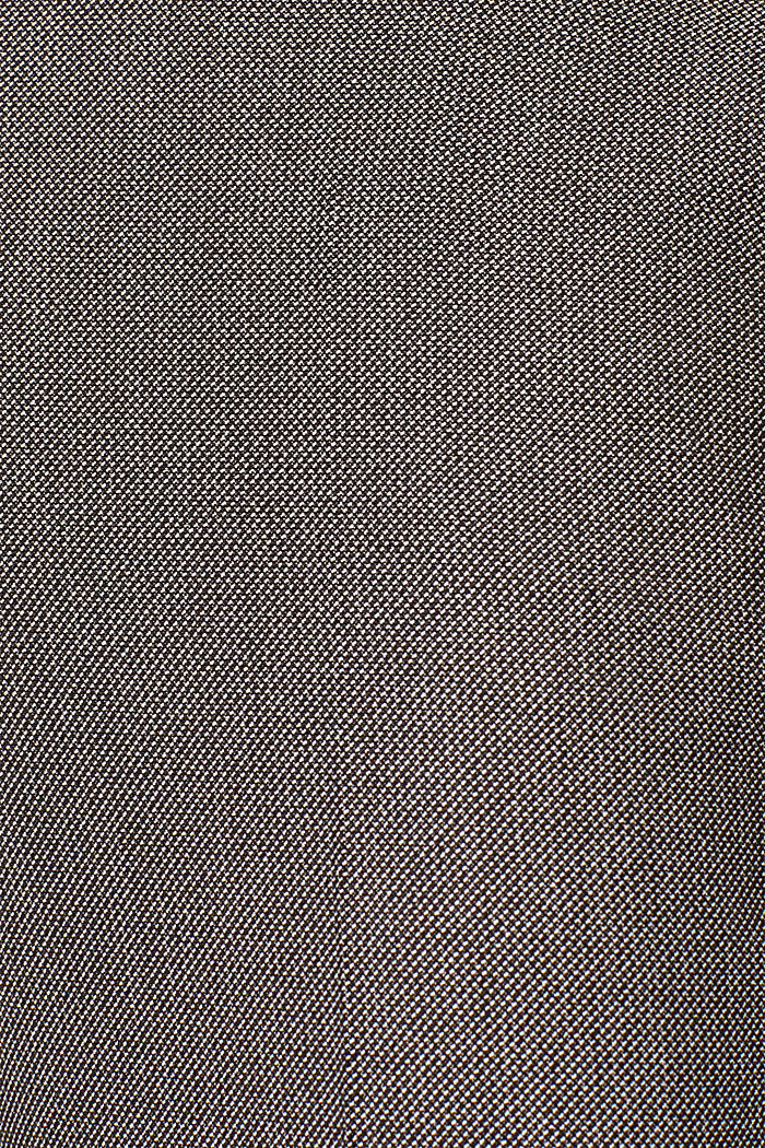 Trousers with a two-tone texture, DARK BROWN, detail image number 4