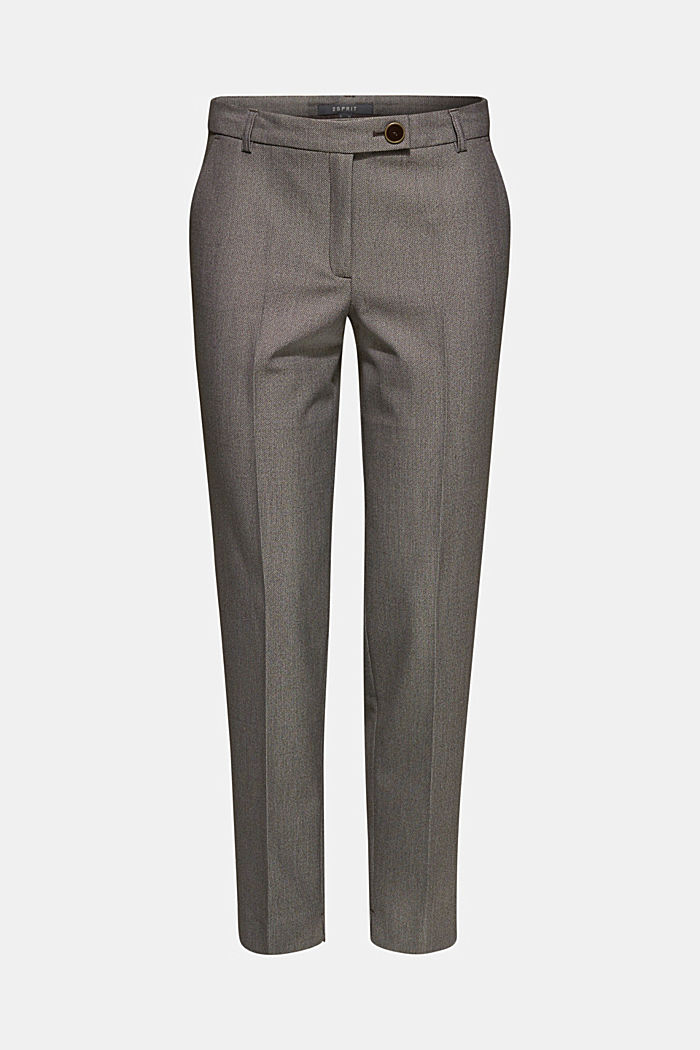 Trousers with a two-tone texture