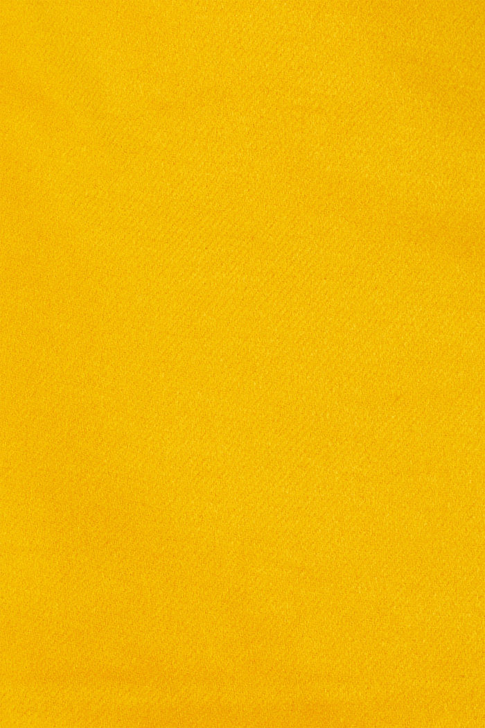 Wool blend twill skirt, AMBER YELLOW, detail image number 4