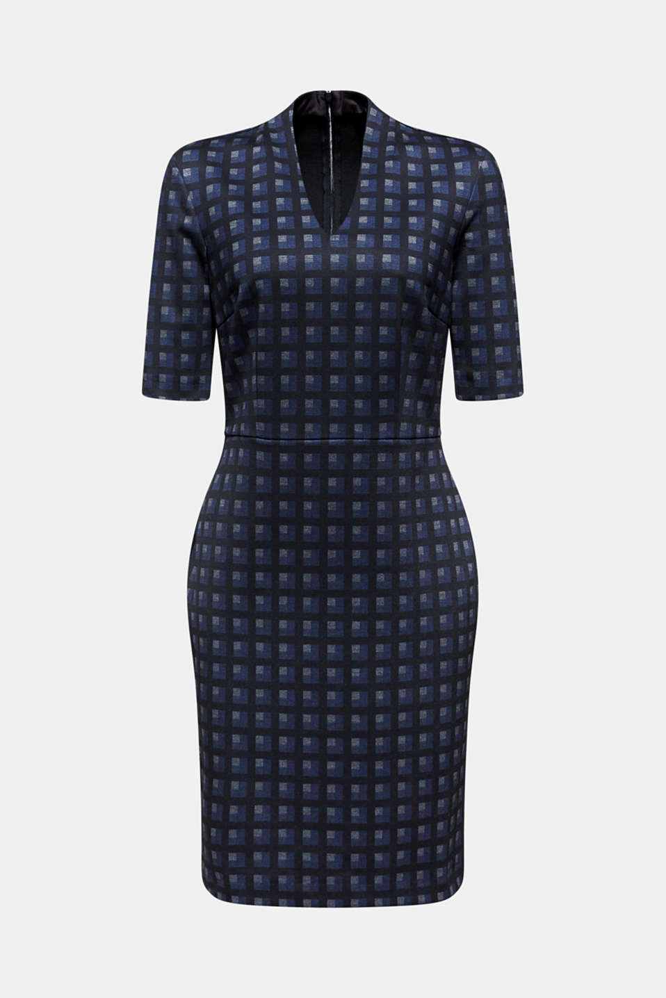 Sheath dress made of stretch jersey, NAVY, detail image number 6