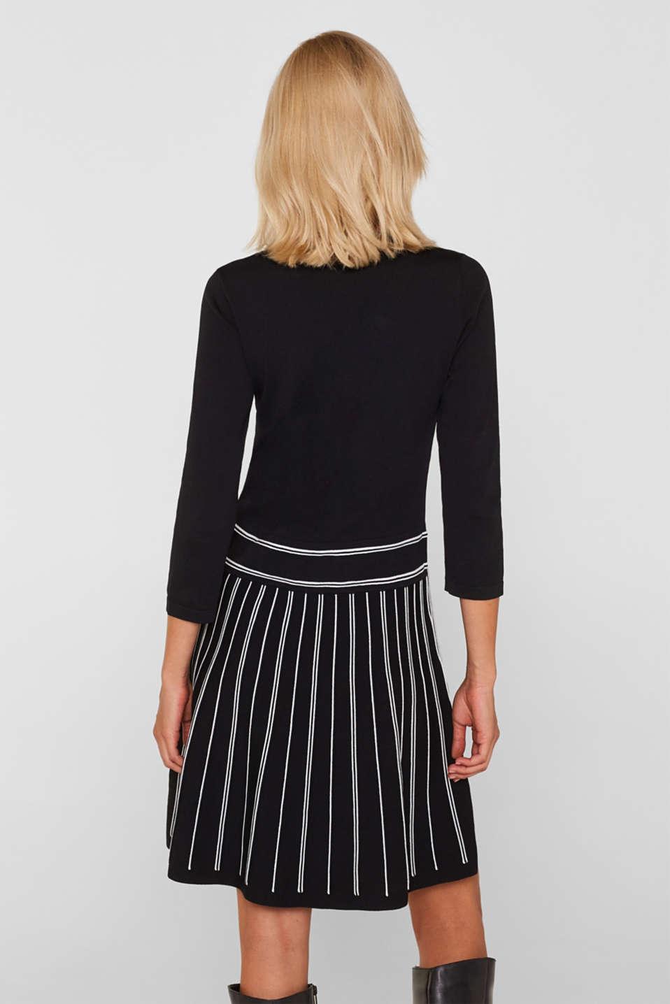 Flared knit dress, BLACK 2, detail image number 2