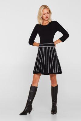 Flared knit dress, BLACK 2, detail