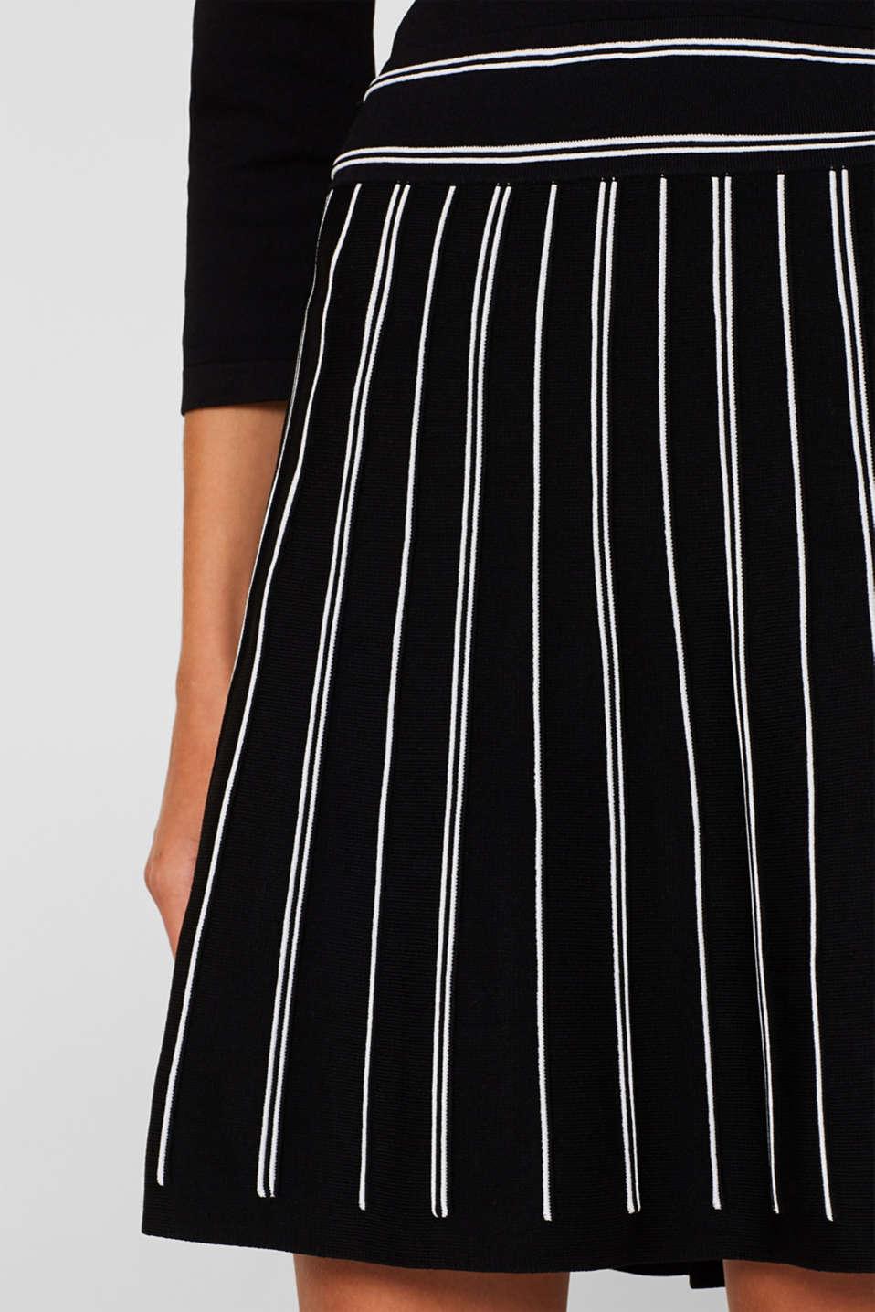 Flared knit dress, BLACK 2, detail image number 3