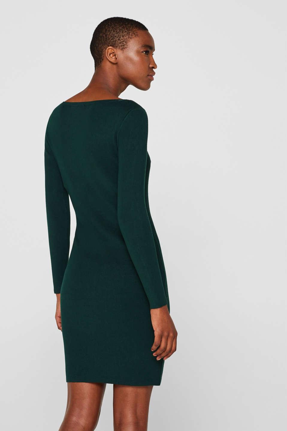 Fine-knit sheath dress, BOTTLE GREEN, detail image number 2