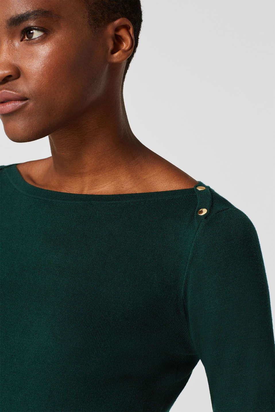 Fine-knit sheath dress, BOTTLE GREEN, detail image number 3