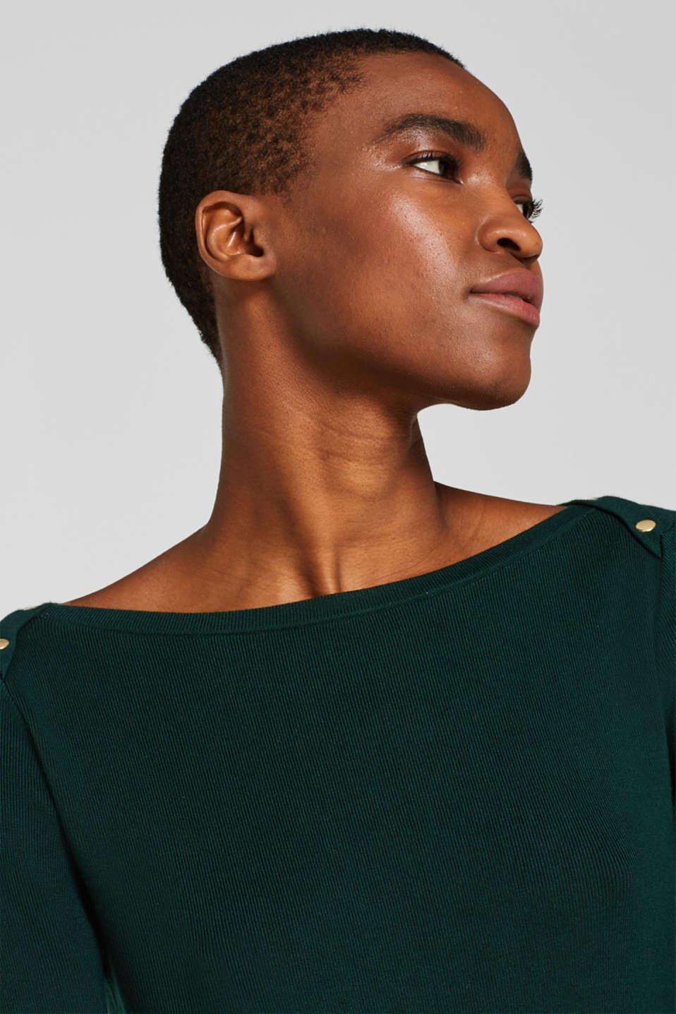 Fine-knit sheath dress, BOTTLE GREEN, detail image number 5