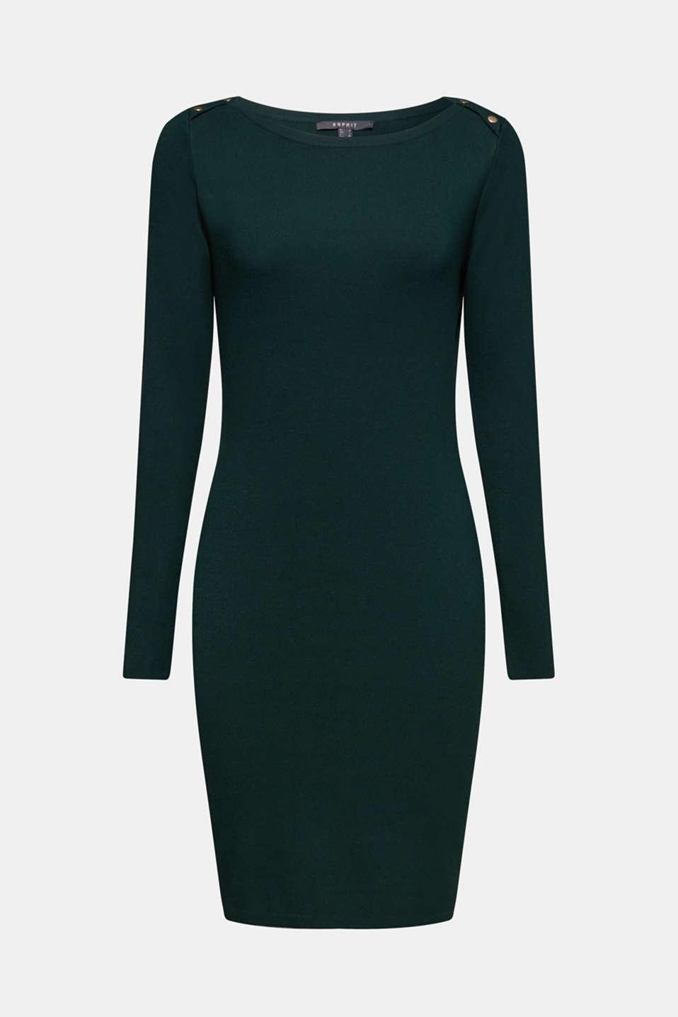 Fine-knit sheath dress, BOTTLE GREEN, detail image number 6
