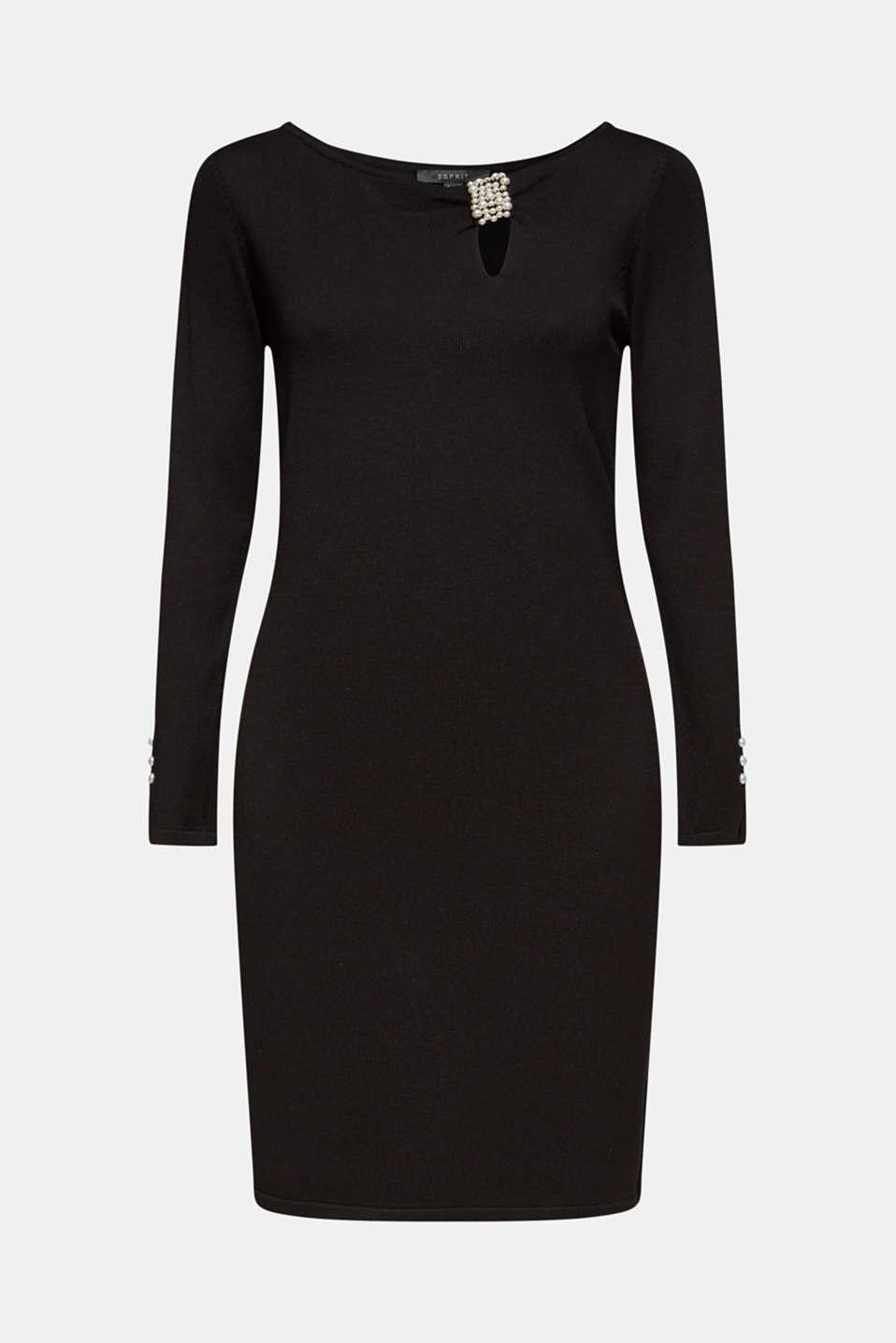 Dresses flat knitted, BLACK, detail image number 8