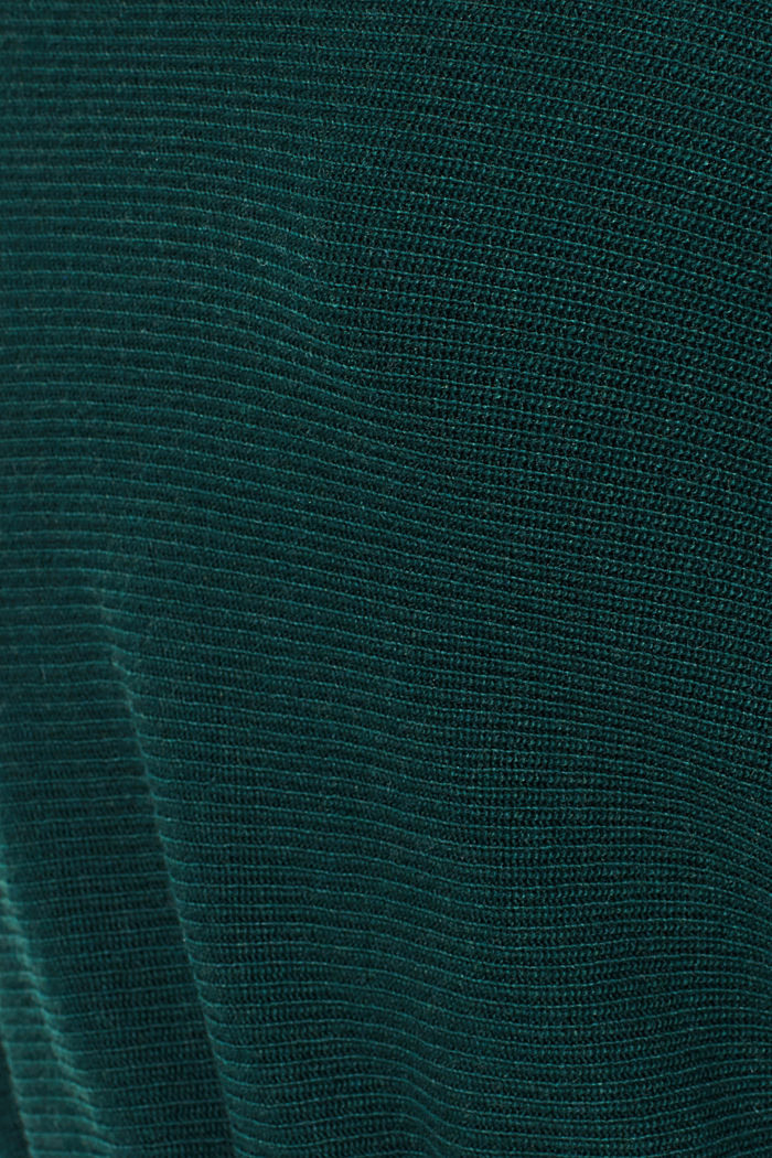 Knit dress with a belt and a ribbed texture, BOTTLE GREEN, detail image number 5
