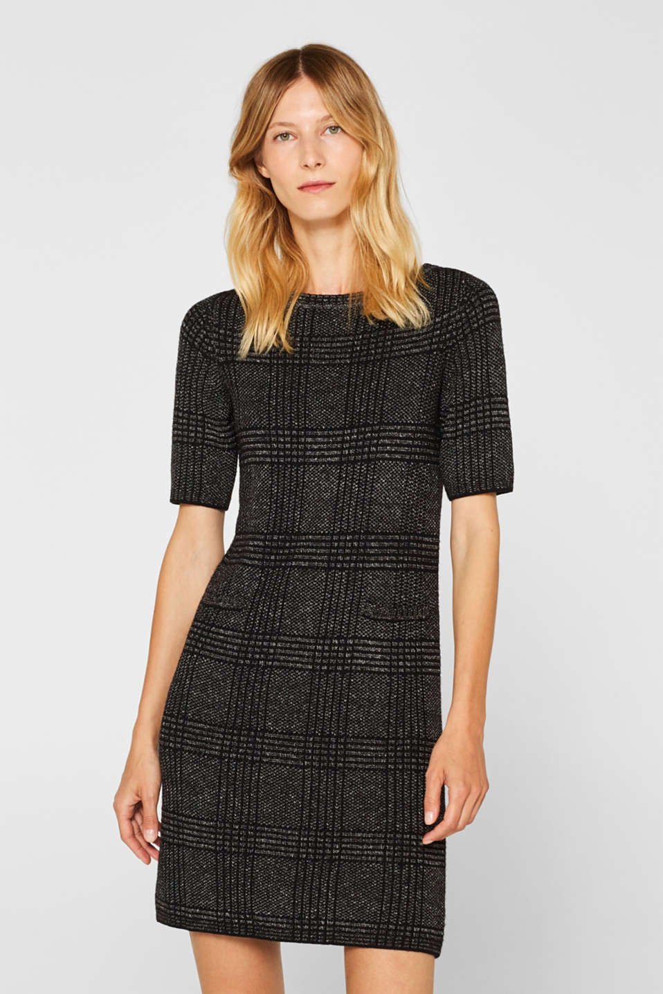 Esprit - Melange sheath knit dress