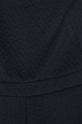 Textured stretch jersey dress, NAVY, detail
