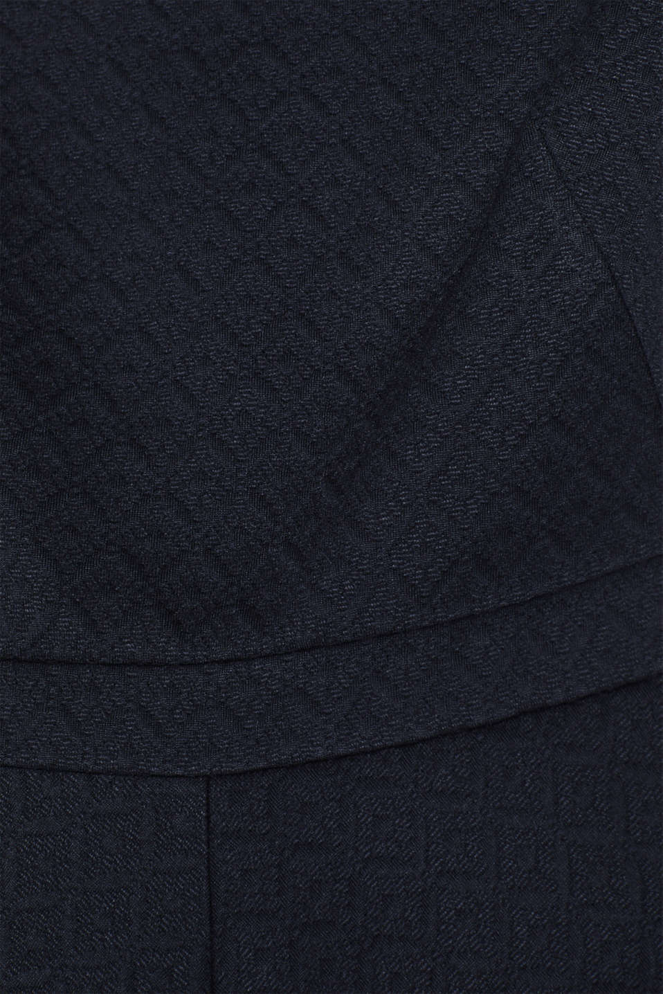 Textured stretch jersey dress, NAVY, detail image number 4