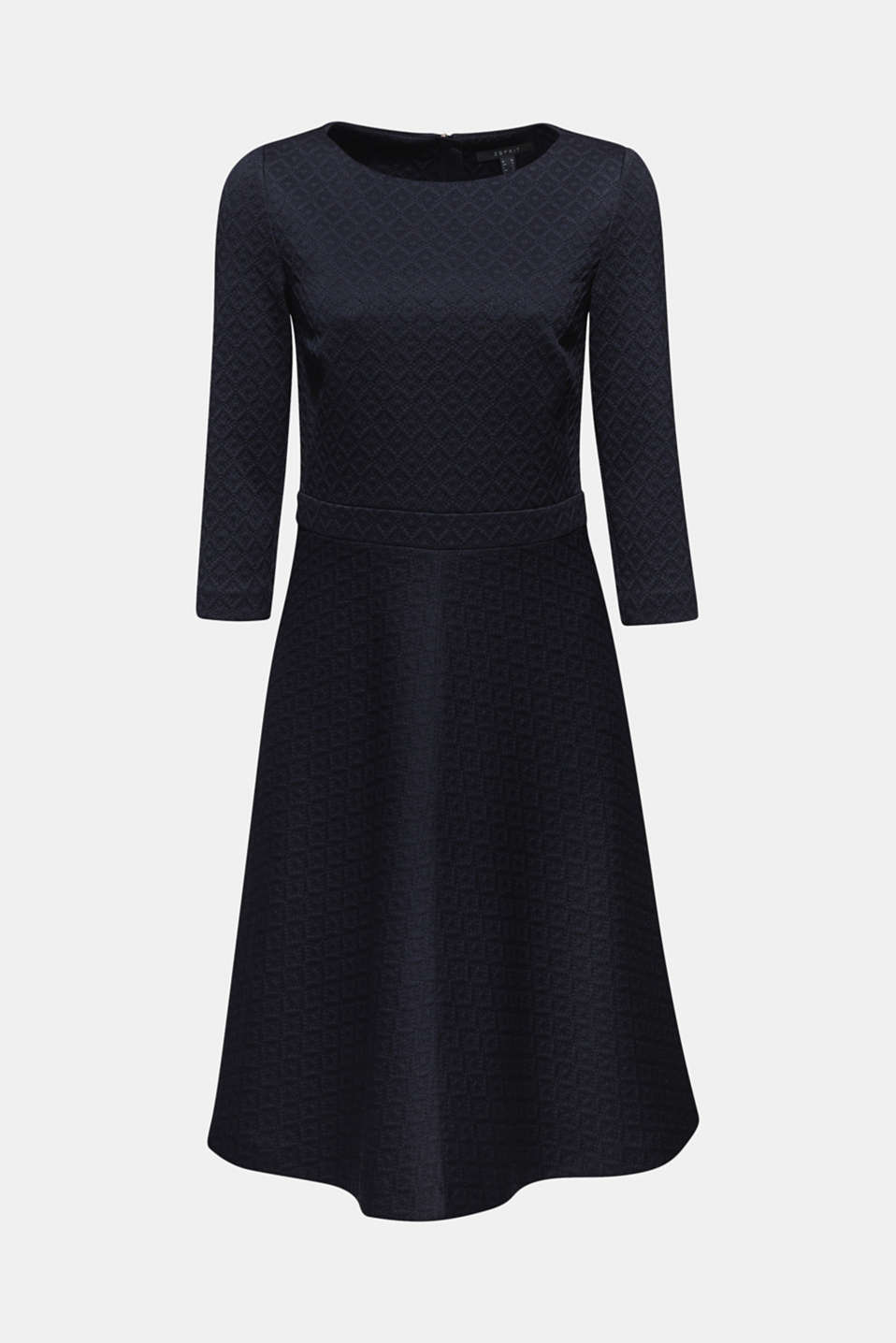 Textured stretch jersey dress, NAVY, detail image number 6