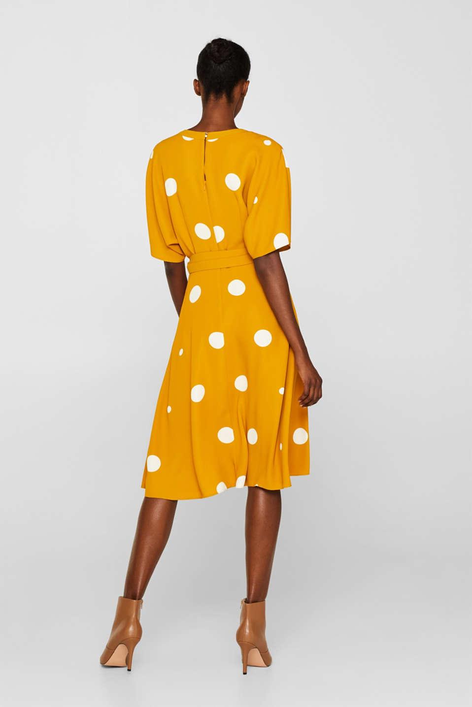 Polka dot midi dress, AMBER YELLOW, detail image number 2