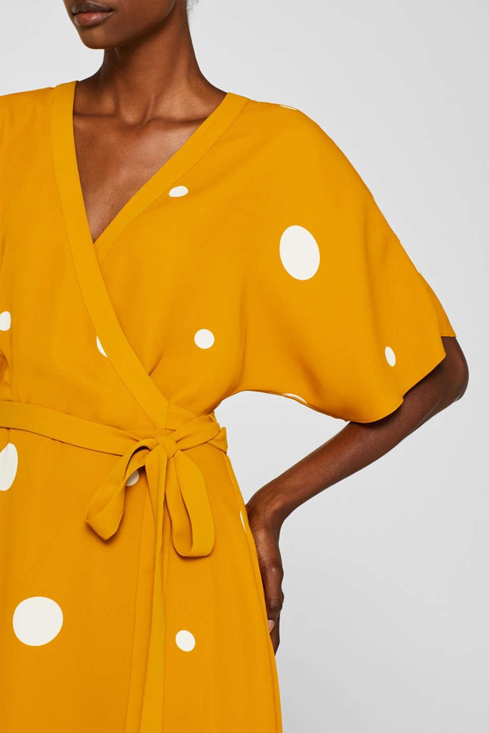 Polka dot midi dress, AMBER YELLOW, detail image number 3