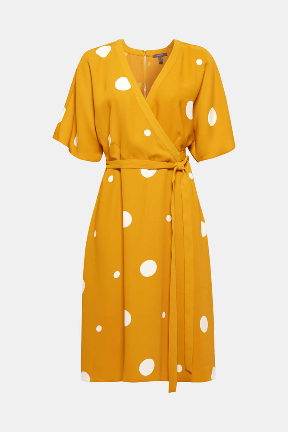 Polka dot midi dress, AMBER YELLOW, detail image number 6