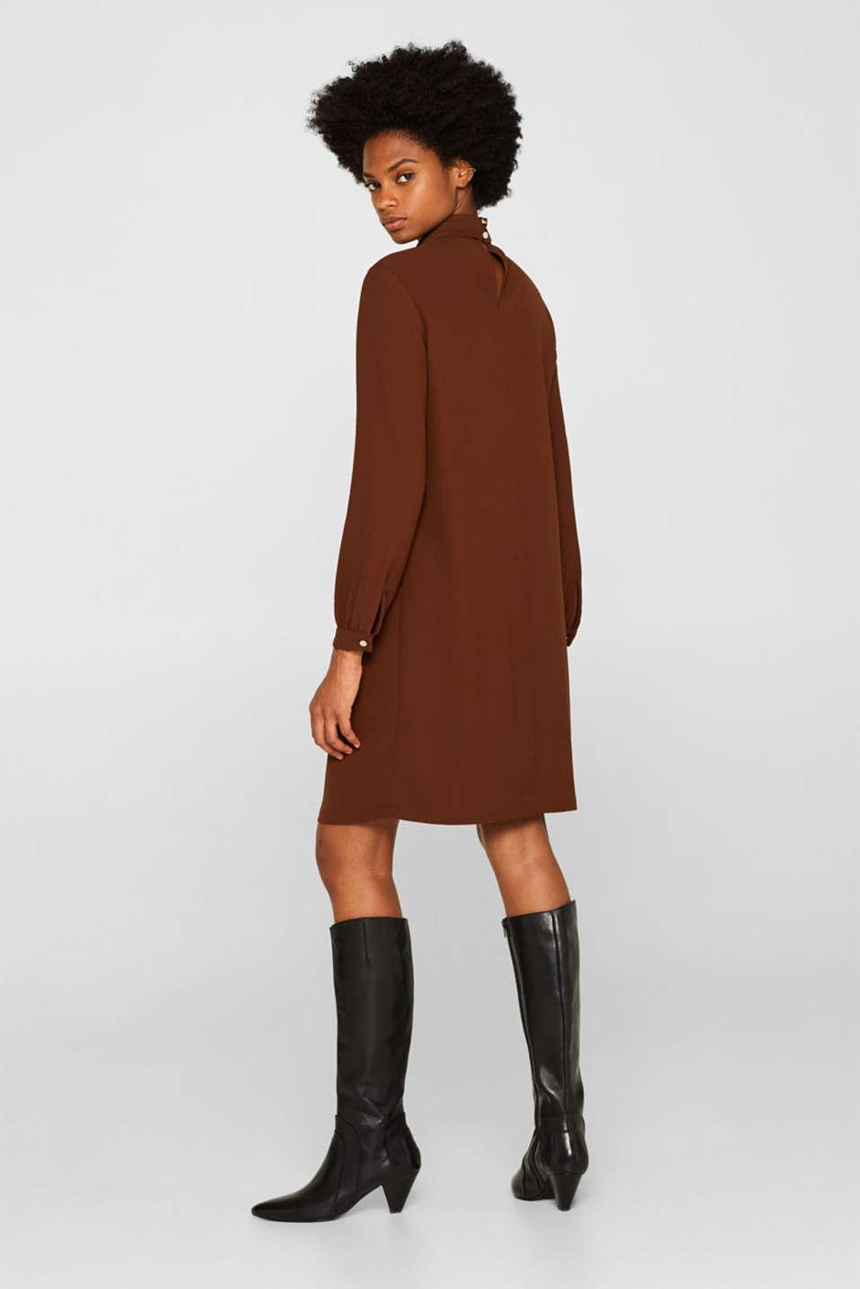 Dresses light woven, DARK BROWN, detail image number 2