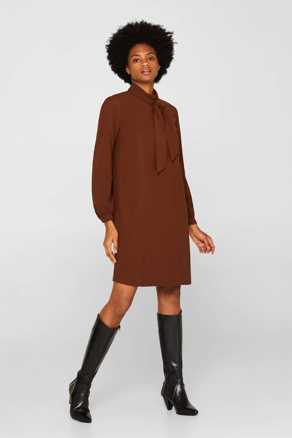 Dresses light woven, DARK BROWN, detail image number 1
