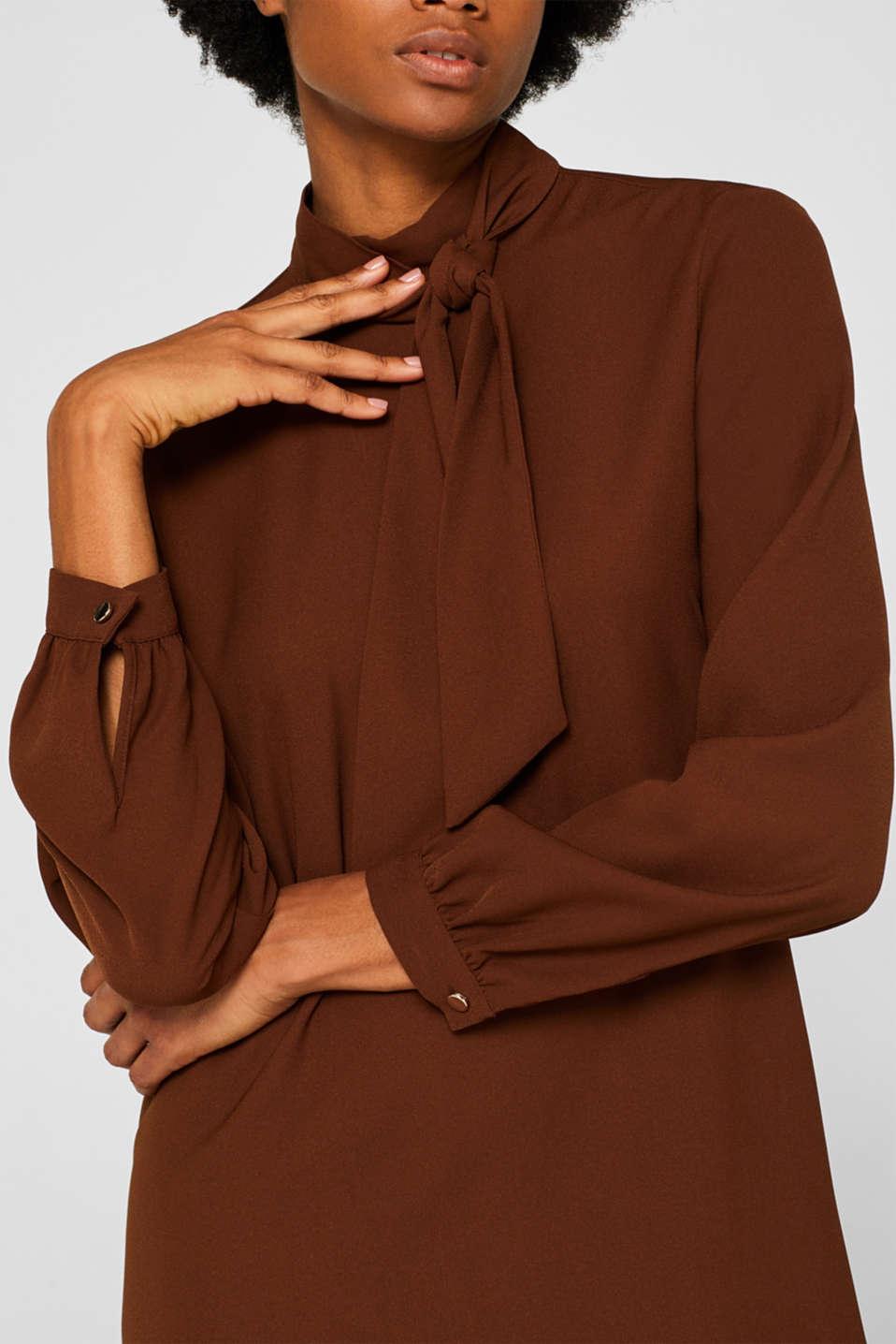 Dresses light woven, DARK BROWN, detail image number 3