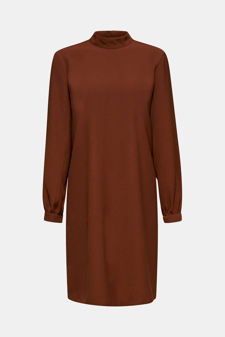 Dresses light woven, DARK BROWN, detail image number 6