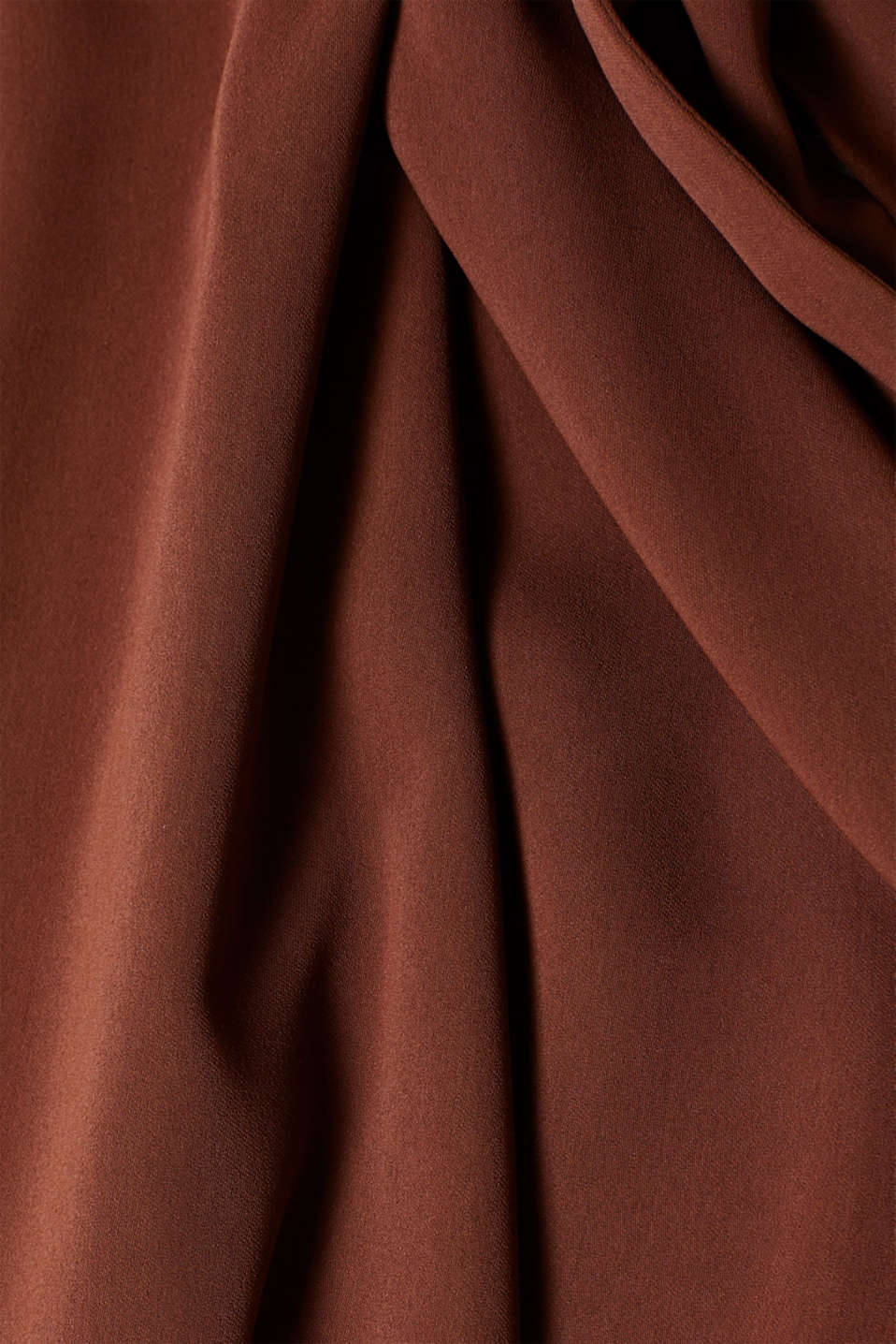 Midi dress with a wrap-over effect, DARK BROWN, detail image number 5