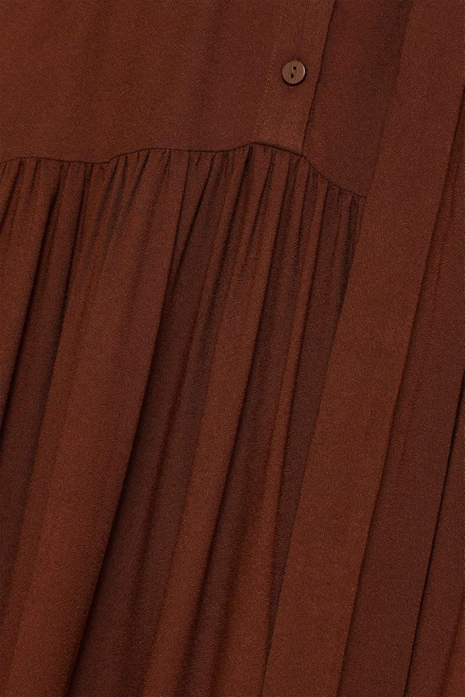 Midi dress with tiered skirt, DARK BROWN, detail image number 5
