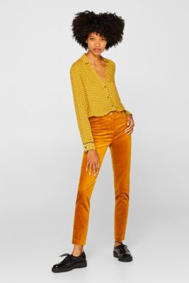 Minimal print blouse, AMBER YELLOW, detail
