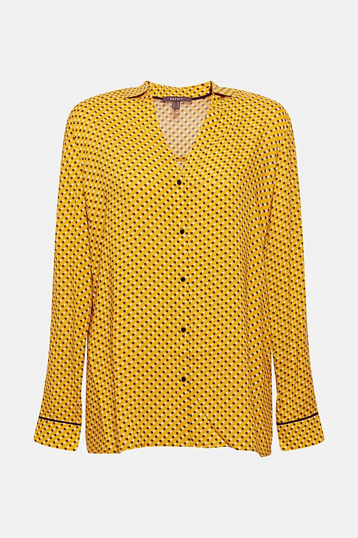 Minimal print blouse, AMBER YELLOW, detail image number 0