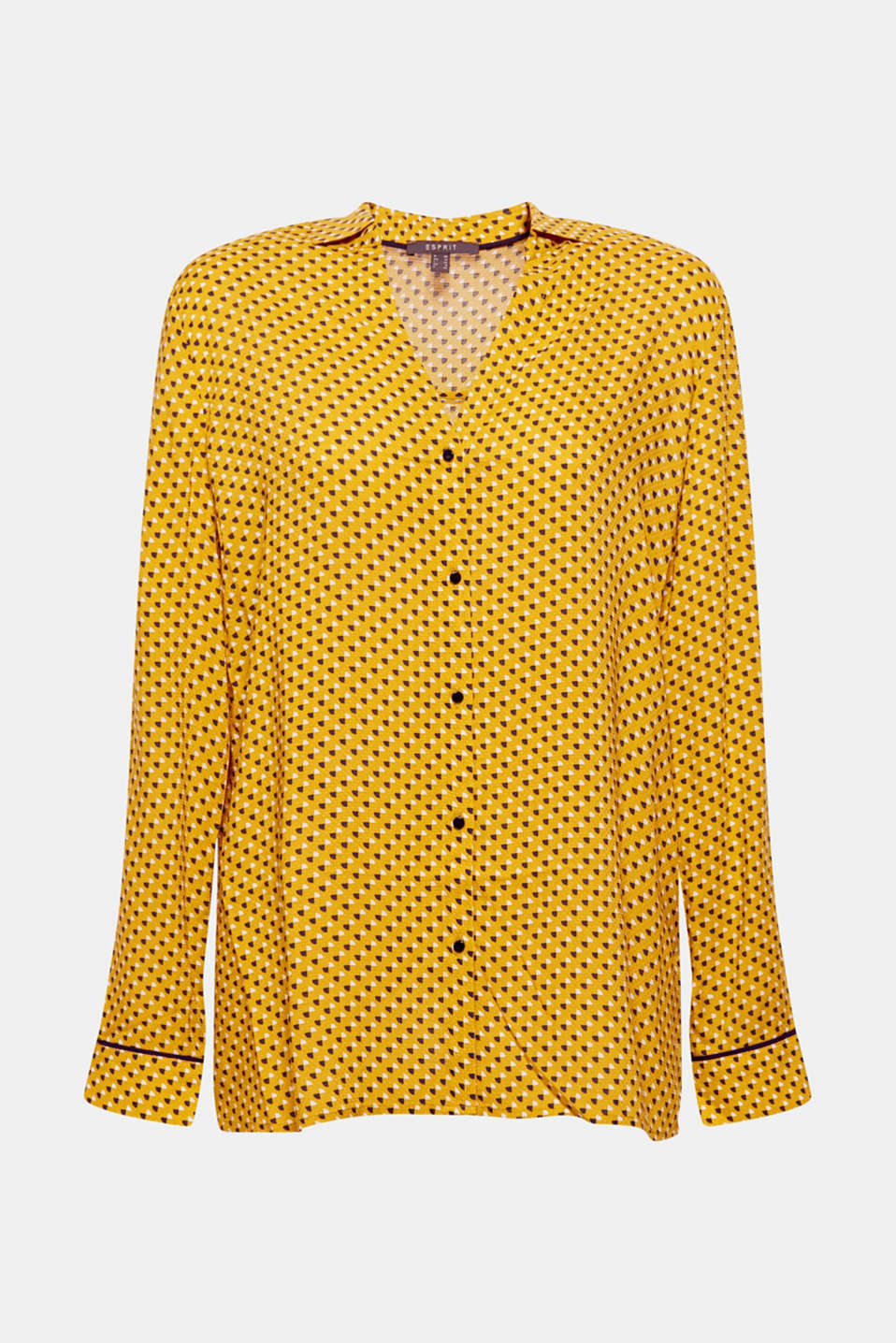 Minimal print blouse, AMBER YELLOW, detail image number 6