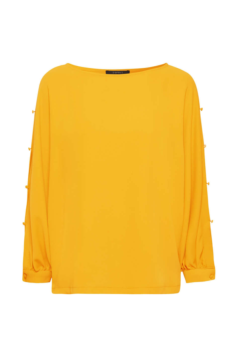 Button detail blouse, AMBER YELLOW, detail image number 6