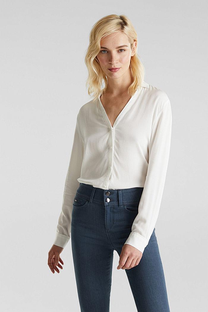 Textured shirt blouse