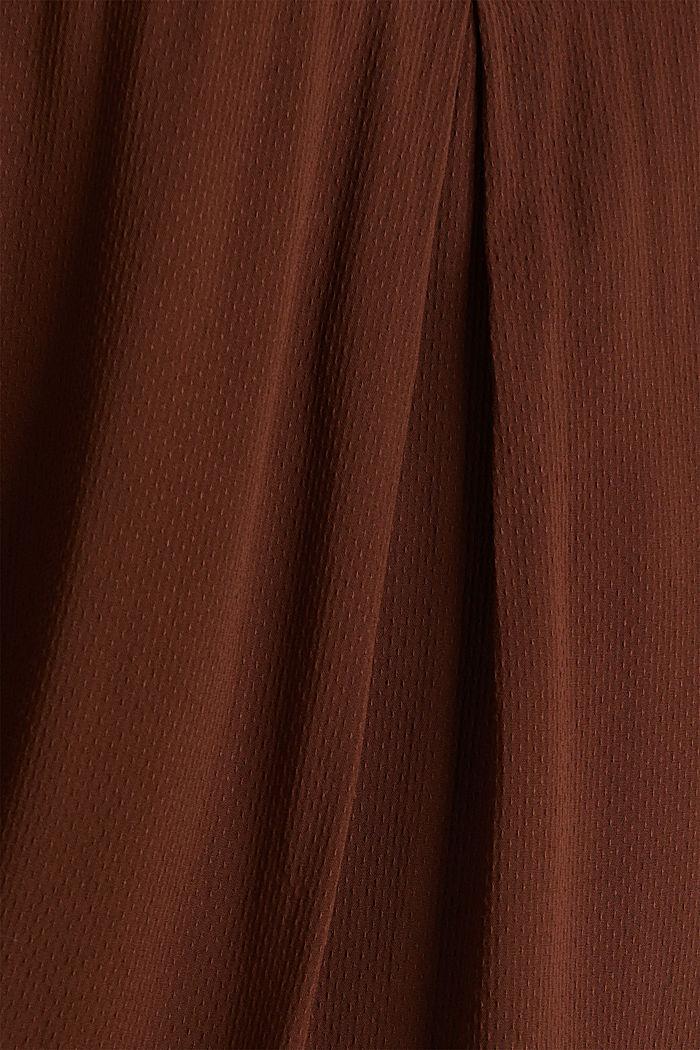 Textured shirt blouse, DARK BROWN, detail image number 3