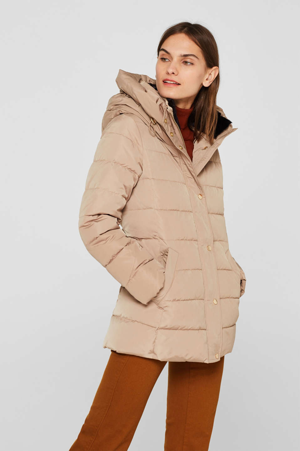 Jackets outdoor woven, SKIN BEIGE, detail image number 4