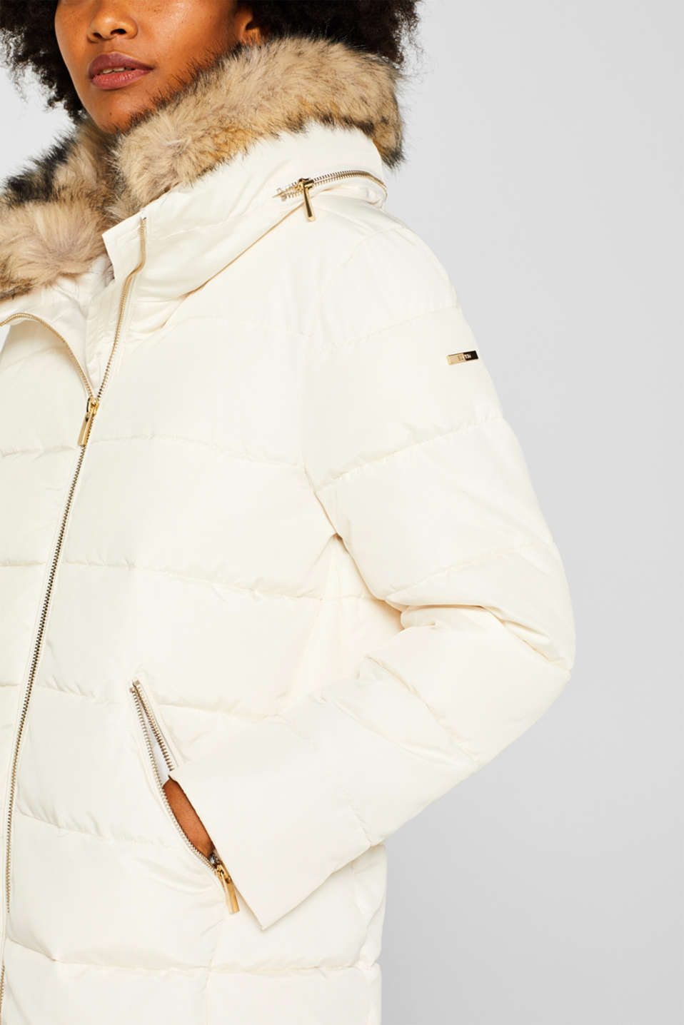 Jackets outdoor woven, OFF WHITE, detail image number 2