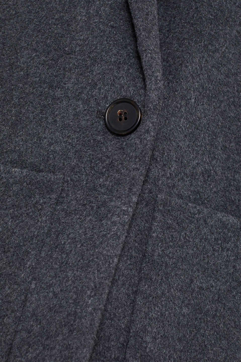 With cashmere: Coat made of blended wool, GUNMETAL 5, detail image number 4