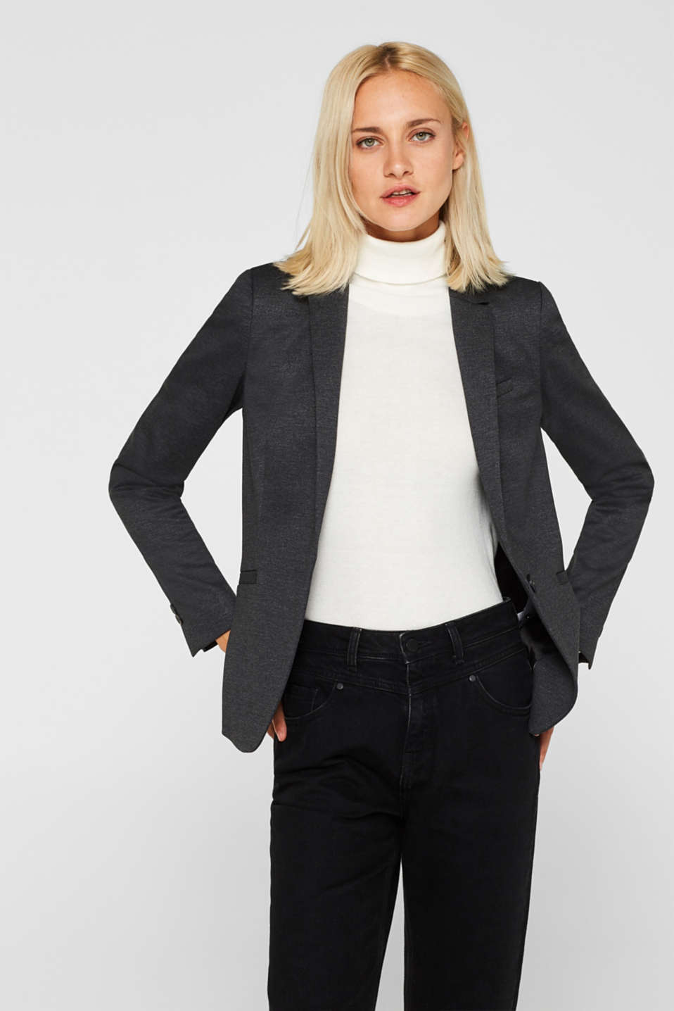 Esprit - Blazer elástico con look business