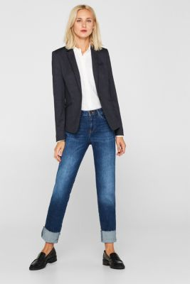 Stretch blazer in a business look, NAVY 5, detail