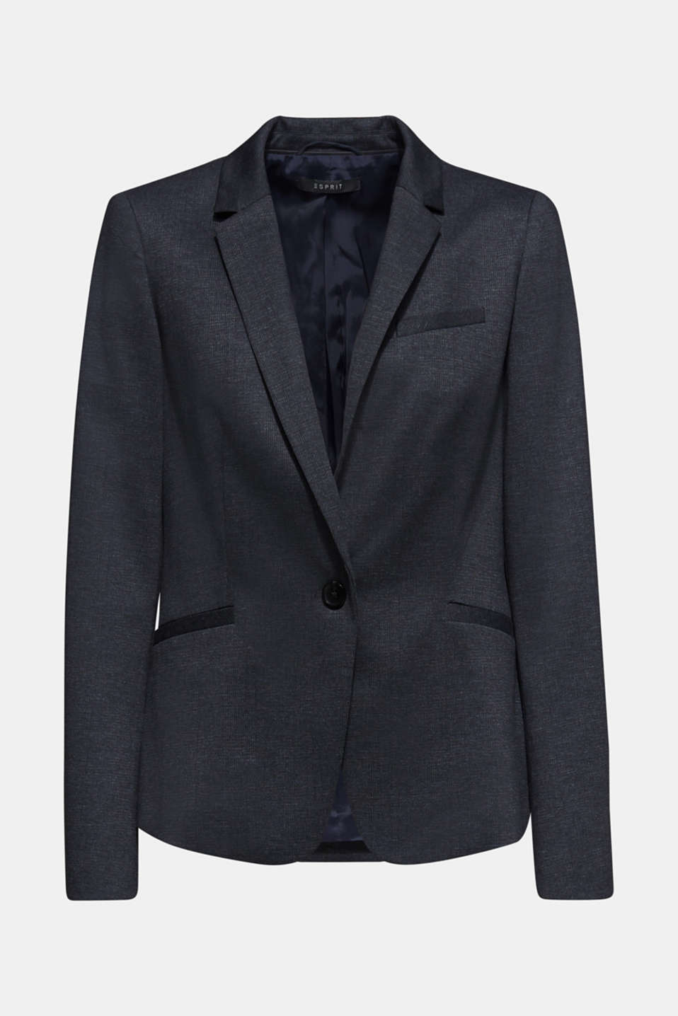 Stretch blazer in a business look, NAVY 5, detail image number 6